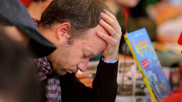 Séance de dédicaces au 41e festival de la bande dessinée d'Angoulême  (PHOTOPQR/SUD OUEST)