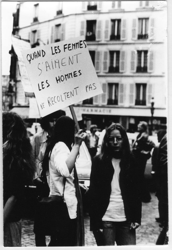 La première Marche des fiertés LGBT, le 25 juin 1977 à Paris. (ANNE-MARIE FAURE-FRAISSE)