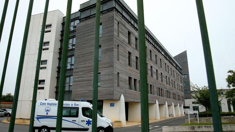 LeCHU de Reims (Marne), où est hospitalisé Vincent Lambert, le 20 mai 2019. (FRANCOIS NASCIMBENI / AFP)
