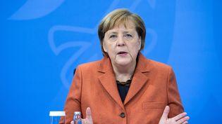 La chancelière allemande Angela Merkel donne une conférence de presse, à Berlin (Allemagne), le 13 décembre 2020. (AFP)
