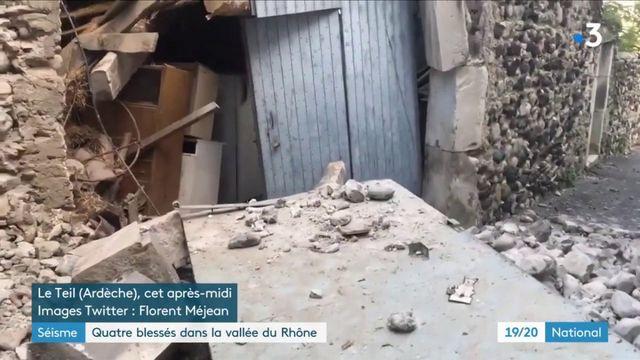 Vallée du Rhône : quatre blessés et d'importants dégâts après un fort séisme