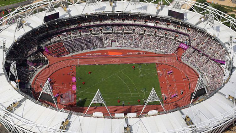 Vue aérienne du stade olympique de Londres