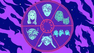 """Parmiles 20-35 ans qui se passionnent pour l'astrologie, beaucoup ont été bercés par des séries, films et livres pleins de références à la magie et aux planètes : """"Buffy contre les vampires"""", Harry Potter"""", Sabrina l'apprentie sorcière"""",""""Charmed"""", """"Sailor Moon"""" ou """"Les Chevaliers du zodiaque"""". (VINCENT WINTER / FRANCEINFO)"""