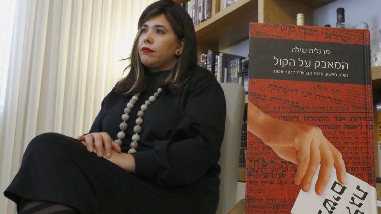 Esty Shushan milite pour que les femmes puissent se présenter aux élections sous les couleurs des ultras-orthodoxes en Israël. (JACK GUEZ / AFP)