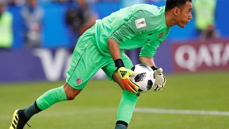 Keylor Navas,gardien du Costa Rica et du Real Madrid, le 17 juin 2018 pendant le match Costa Rica-Serbie. (FATIH AKTAS / ANADOLU AGENCY)