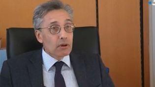 Le doyen de la fac de droit de Montpellier,Philippe Pétel, le 23 mars 2018. (FRANCE 3)