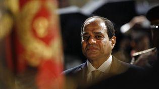Le président égyptienAbdel-Fattah el-Sissi à Paris, le 23 octobre 2017. (THIBAULT CAMUS / AFP)