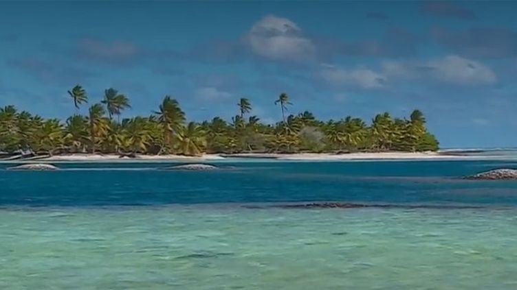 Le lagon de Tatakoto, en Polynésie française. (FRANCE 3)