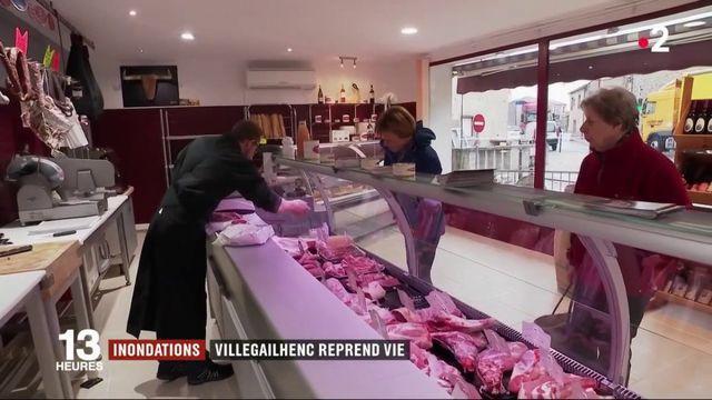 Inondations : le village de Villegailhenc reprend vie
