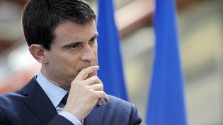 Le Premier ministre, Manuel Valls, àErgue-Gaberic (Finistère), le 16 janvier 2015. (FRED TANNEAU / AFP)