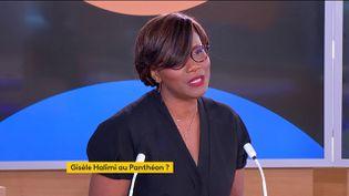 La ministre chargée de l'Egalité entre les femmes et les hommes, de la Diversité et de l'Egalité des chances, Elisabeth Moreno, le 9 septembre 2021 sur la chaîne franceinfo. (FRANCEINFO)