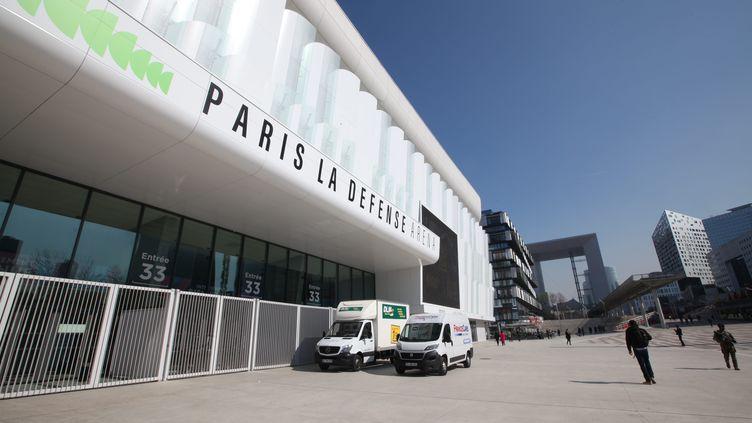 Inaugurée en 2017, Paris La Défense Arena est la plus grande salle de spectacle d'Europe et peut accueillir jusqu'à 40 000 personnes. (OLIVIER BOITET / MAXPPP)
