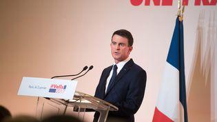 Manuel Valls, candidat à la primaire de la gauche, le 3 janvier 2017 à Paris. (PHILIP ROCK / ANADOLU AGENCY / AFP)
