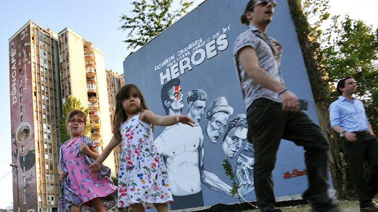 Bowie à Sarajevo  (Elvis Barukcic/AFP)
