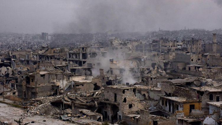 La ville syrienne d'Alep, le 5 décembre 2016. (GEORGE OURFALIAN / AFP)