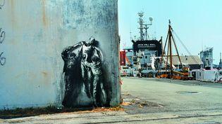 """""""Jean Genet"""" (Brest 2006) une oeuvre d'Ernest Pignon-Ernest exposée actuellement au Mucem.  (Adagp_Paris_2016)"""