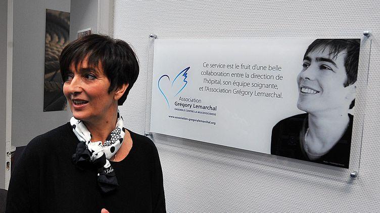 Laurence Lemarchal, co-fondatrice et directrice de l'association Grégory Lemarchal, le 17 janvier 2013, à Lille (Nord). (MAXPPP)