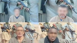Capture d'écran de vidéos montrant les otages français au Niger, lors de leur captivité, entre 2010 et 2013. ( FRANCE 2 / FRANCETV INFO)