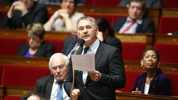 Patrick Vignal, député de l'Hérault, lors des questions au gouvernement en janvier 2017. (LEON TANGUY / MAXPPP)