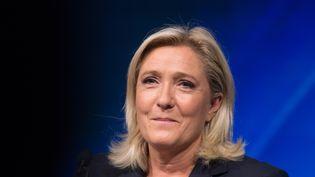 Marine Le Pen lors d'une conférence du Front national à Marseille (Bouches-du-Rhône), le 6 septembre 2015. (FRANCOIS PAULETTO / CITIZENSIDE.COM / AFP)