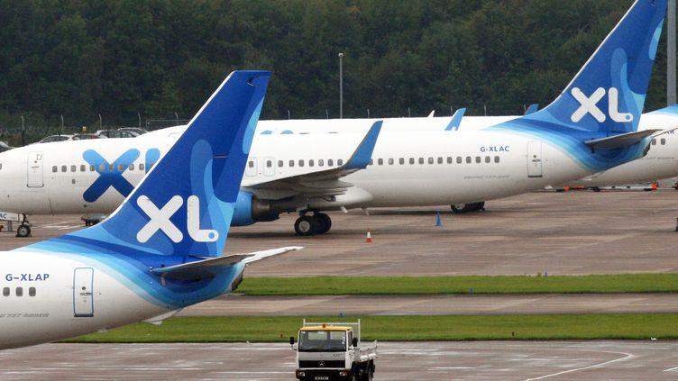 Un avion de la compagnie XL Airways, le 12 septembre 2008 à Manchester (Royaume-Uni). (PAUL ELLIS / AFP)
