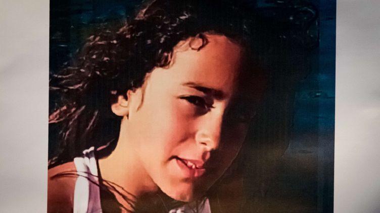 Portrait non daté de Maëlys, 8 ans, disparue le 27 août 2017 dans l'Isère. (KONRAD K./SIPA)