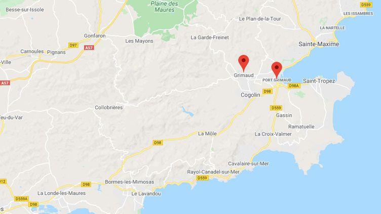 Grimaud dans le Var. (GOOGLE MAPS)