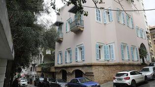 La maison appartenant à Carlos Ghosn à Beyrouth(Liban), le 31 décembre 2019. (ANWAR AMRO / AFP)