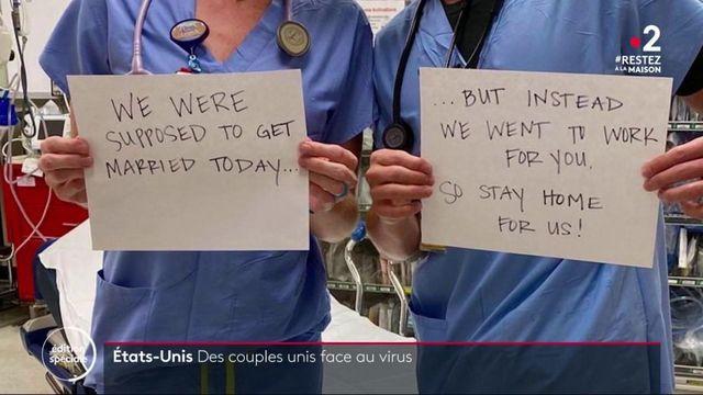 Etats-Unis : un couple de soignants devient le symbole du pays
