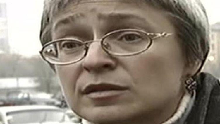 """Anna Politkovskaïa, journaliste de """"Novaïa Gazeta"""" assassinée le 7 octobre 2006 à Moscou. (© France 2)"""