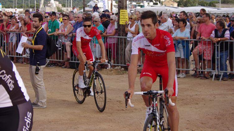 Les coureurs de la Cofidis lors de la présentation du Tour de France 2013