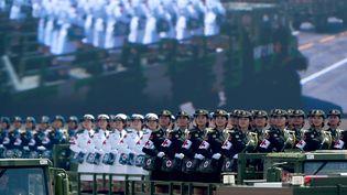 L'armée de libération chinoise lors du défilé militaire sur la place Tiananmen, à Pékin, le 3 deptembre 2015, pour le 70e anniversaire de la victoire sur le Japon. (REUTERS )