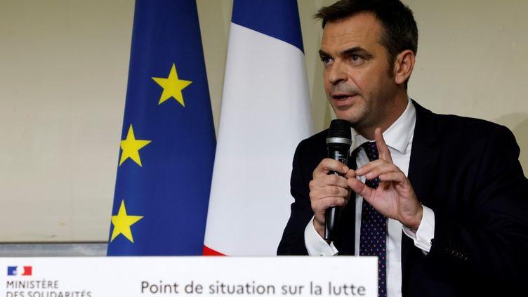 Olivier Véran, le ministre de la Santé, lors d'une conférence de presse, à Paris, le 1er octobre 2020. (LUDOVIC MARIN / AFP)