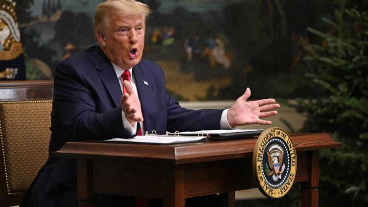 Donald Trump, le 26 novembre 2020 à la Maison Blanche, à Washington. (ANDREW CABALLERO-REYNOLDS / AFP)