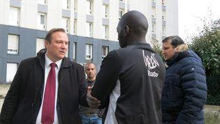 Stéphane de Paoli, le 14 mars 2014 à Bobigny (Seine-Saint-Denis), où il a été élu maire. (MAXPPP)