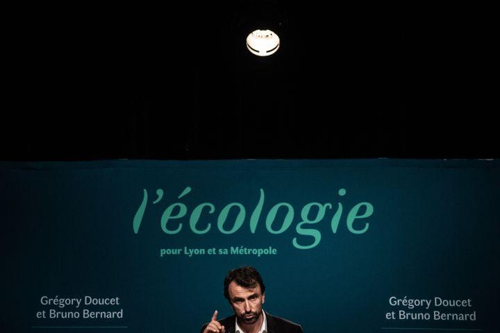 L'écologiste Grégory Doucet a été élu maire de Lyon avec 52,4% des voix, le 28 juin 2020. (JEFF PACHOUD / AFP)