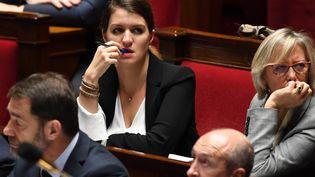 Marlène Schiappa, secrétaire d'État en charge de l'Égalité entre les femmes et les hommes, a annoncé, lundi 5 mars 2018, quel'âge de 15 ans comme seuil de non-consentement à une relation sexuelle avait été retenu. (ALAIN JOCARD / AFP)