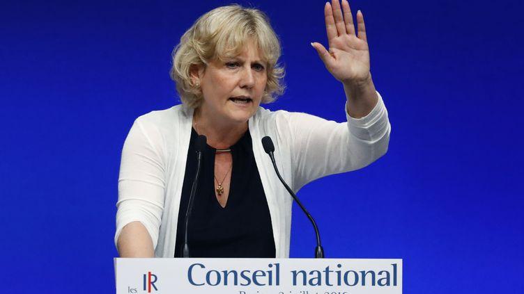 Nadine Morano le 2 juillet 2016 lors du conseil nationalLR (PATRICK KOVARIK / AFP)