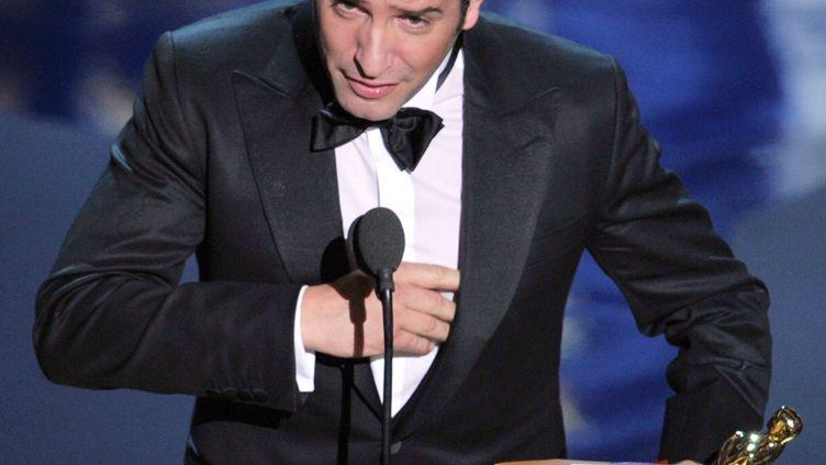 Jean Dujardin lors de la 84e cérémonie des Oscars, à Los Angeles (Etats-Unis), le 27 février 2012. (- / GETTY IMAGES NORTH AMERICA)