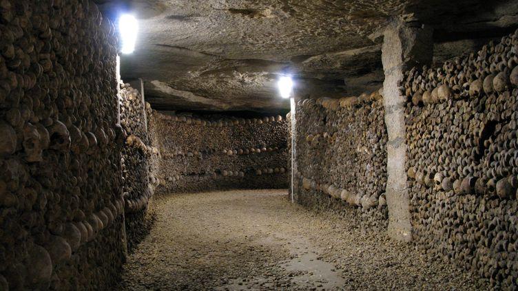 Les catacombes de Paris, le 16 janvier 2007. (NAVARRO JEAN MARC / MAXPPP)