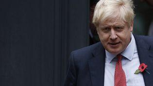 Le Premier ministre britannique, Boris Johnson, quittant le siège du parti conservateur le 4 novembre 2019 à Londres. (ADRIAN DENNIS / AFP)