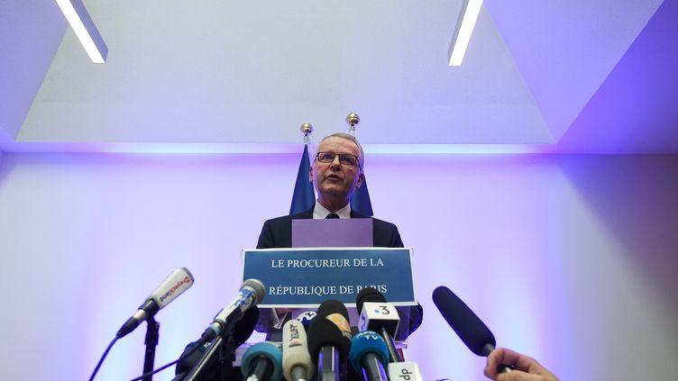Le procureur de la République de Paris, Rémy Heitz, lors d'une conférence de presse, au tribunal de Strasbourg (Bas-Rhin), le 12 décembre 2018. (PATRICK HERTZOG / AFP)