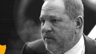 Harvey Weinstein arrive à la Cour suprême de New York, le 20 décembre 2018. (EDUARDO MUNOZ / REUTERS / JESSICA KOMGUEN / FRANCEINFO)