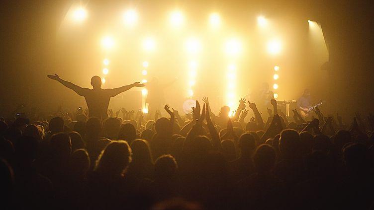 Les concerts gigantesques, avec débauches d'effets et d'électricité,ont un impact écologique qui fait de plus en plus réfléchir. (PATRICK LEFEVRE / MAXPPP)