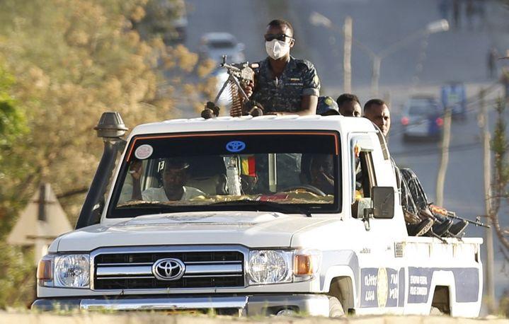 Enmars 2021, l'armée éthiopienne contrôlait Mekele, la capitale de la région du Tigré, reprise depuis par les forces rebelles du TPLF. (MINASSE WONDIMU HAILU / ANADOLU AGENCY)