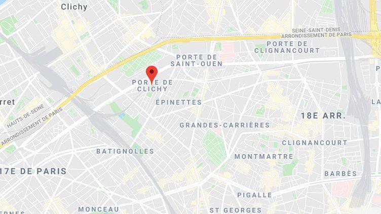 L'accident s'est produit près de la porte de Clichy, dans le 17earrondissement de Paris. (GOOGLE MAPS)