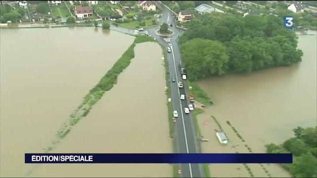 Inondations : des images aériennes qui impressionnent
