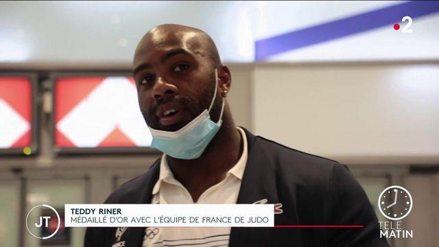 JO 2021 : Teddy Riner, Clarisse Agbegnenou et les médaillés français de retour en France