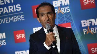 Patrick Drahi, fondateur du groupe de médias et télécoms Altice, dont SFR Group est une filiale, à Paris, le 7 novembre 2016. (MARTIN BUREAU / AFP)
