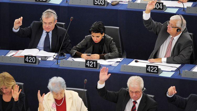 L'eurodéputée UMP Rachida Dati, le 15 février 2012 au Parlement européen à Strasbourg. (FREDERICK FLORIN / AFP)